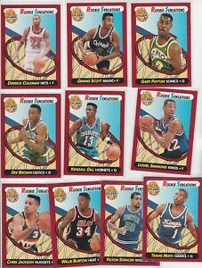 90S COMPLETE INSERT SET 1991-92 FLEER ROOKIE SENSATIONS DC GARY PAYTON GILL 1-10