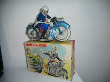 rare MOTO tôle lithographiée POLICE DE LA ROUTE marque MONT BLANC joustra