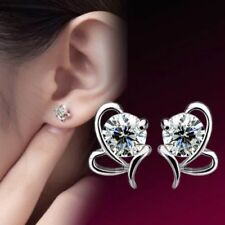 Womens Silver Butterfly Earrings 925 Sterling Stud Studs Fashion Jewellery Gift