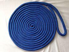 "Four 5/8""x 30 feet Blue Double Braid Nylon Rope Dock Lines"