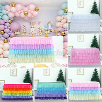 Table Skirt Wedding Tulle Tutu Tableware Birthday Baby Shower Party Decoration