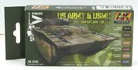 AK Interactive AK4220 US Army & USMC Camouflage Colors (AFV Series) Paint Set