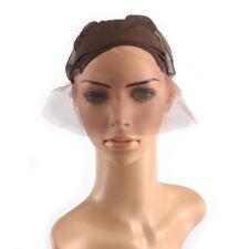 Lace Front Wig Cap for Wig Making Weave Cap Elastic Hair Net Black BrownBeige WL