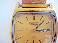 Seiko SQ  quartz square faced  watch. day / date           ...