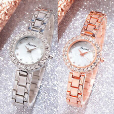 Silver And Rose Gold Ladies Watch Bracelet Bling Women Accessory 2pcs/Set Gift