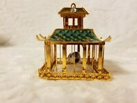 Asian Collectible - Miniature Gold Pagoda with Bird