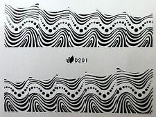 Nail art stickers décalcomanie bijoux d'ongles: Motifs vagues et pois design