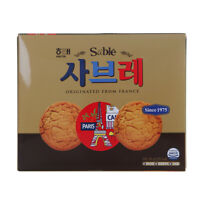 Korean Snack HAITAI Sable 315g Sweet Soft Delicious Cookie With Coffee France