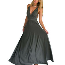 Womens Bridesmaid Evening Party Prom Gown Convertible Multiway wrap Long Dress