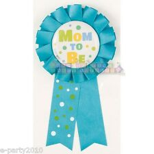 BLUE MOM TO BE AWARD GUEST OF HONOR RIBBON Favor ~ Baby Shower Party Supplies