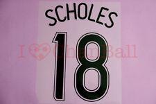 Scholes #18 2006-2007 Manchester United CL awaykit Nameset Printing