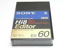 Sony Hi8 Editor DLC E5-60HMEAD 60 Min Professional Use 8mm Camcorder Tape (NEW)