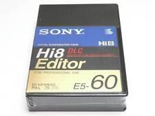 Sony Hi8 Editor DLC E5-60HMEAD 60 Min Professional Use 8mm Camcorder Tape (NEW)