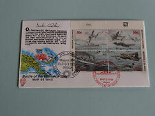 WWII FDC #57 Bismarck Sea Japan Britain Dual Cancel Inscrip * 50th Anniversary
