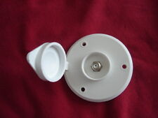 RV exterior white CABLE TV RECEPTCAL round plate camper motorhome pop-up trailer