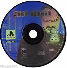 Replacement Disc Two (2) Fear Effect (PlayStation PS1) **Disc ONLY**