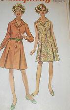 Vintage 1960s Simplicity 8003 Princess Seamed Shirt Dress Pattern 46B sz 42 Unct