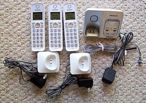 Panasonic KX-TGD560 Bluetooth Cordless Phone System 3 Handsets