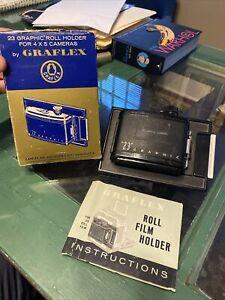 Graflex Vintage '23' 120 GRAPHIC FILM ROLL HOLDER 6x9cm for 4X5