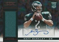 2013 13 Panini Matt Barkley RC AUTO JERSEY #/99 Eagles San Francisco 49ers USC