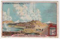 Geyser Yellowstone Wyoming Park 1902 Trade Ad Card