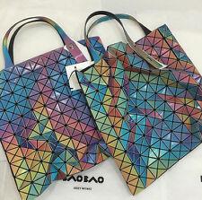 NWT Auth Japan Bao Bao Issey Miyake Prism Aurora 10 x 10 Tote Bag Limited 2016