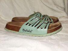BETULA BIRKENSTOCK 2 STRAP GREEN SANDALS SLIDES WOMENS SIZE 39 / 8