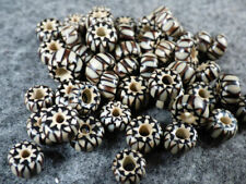 10 Old Hudson's Bay Comp Black & White Chevron Trade Beads Good Patina