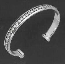 925 ECHT SILBER RHODINIERT *** Zirkonia Armband Armreif Armspange 8 mm