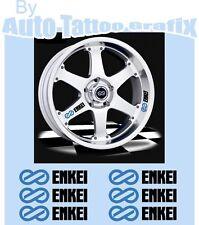 ENKEI WHEEL RIM DECAL STICKER SET X6 DETAILING JDM DRIFT WHEEL DECALS STICKERS