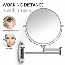 10 x Magnifying Extending Bathroom Cosmetic Shaving Makeup Mirror With Flat UK