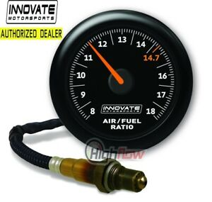 GENUINE Innovate 3855 MTX-AL Analog, Air/Fuel Ratio Gauge Kit w/O2, Black Dial