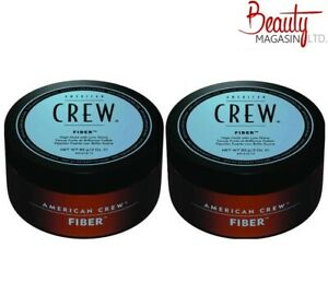 2 x American Crew Fiber Cream Mens Strong Hair Styling Product 85g