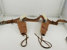 MATTEL FANNER DOUBLE HOLSTER WITH 2 PONY BOY CAP GUNS TOY