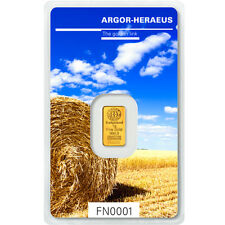 Following Nature Goldbarren 1g 1 Gramm Sommer Argor Heraeus Blister Gold 99,99