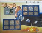 1968 United States Uncirculated Mint Set Panel - Postal Commemorative Society