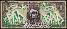 Street art-Dollar art / Real Original hand made Dollar customized by BAD CED