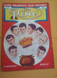 Vintage The Ring Boxing Magazine. April 1938. Contenders For The Crown.