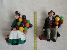 Royal Doulton Figurines - Old Man & Old Lady Balloon Seller Pair!