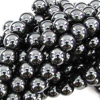 4/6/8/10mm Black Hematite Round Ball Spacer Beads magnetic/non Jewelry DIY