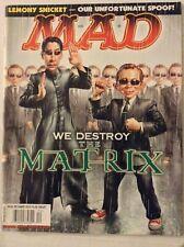 Mad Magazine Destroying The Matrix Lemony Snicket December 2003 030319nonrh