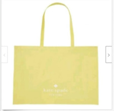 "Kate Spade Cotton Shopping Bag Yellow Gold Large Tote~24"" x 15"" x  5"""