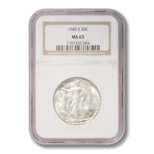United States Walking Liberty Half Dollar 50 Cents 1945 S NGC MS-65