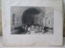 Vintage Print,TURKISH DIVAN,Damascus,Bartlett,Fisher's Views,1836