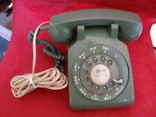 Vintage Bell System Western Electric Pistachio Green Rotary disk Desk Telephone