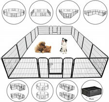 """New listing Foldable 24"""" Tall Dog Fence Pet Dog Playpen Play Yard Exercise Cage 16 Panels Us"""