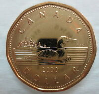 2000 CANADA LOONIE PROOF-LIKE ONE DOLLAR COIN