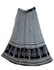 Indian Rayon Hippie Gypsy Skirt Ethnic Falda Vintage Boho Retro Women Kjol Ehs