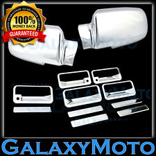92-99 GMC+Chevy Suburban Chrome Plated Mirror+4 Door Handle+Tailgate Cover Trim