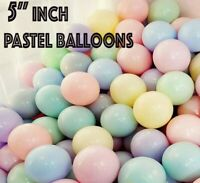 "100 Quality Pastel Finish 5"" Small Round Latex Balloons Choose Colour 9 baloon"